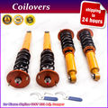 24-Way Adj. Coilovers For Nissan Skyline GTS GTS-T R33 RB25DE Coupe Sedan 93-98  ECR33 ER33 4x Domlager Coil Spring Shocks Strut