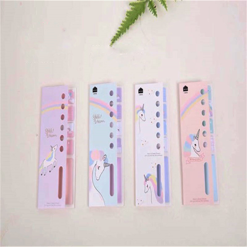Memo Pads 4+1 Unicorn Memo Pad N Times Sticky Notes Escolar Papelaria School Supplies Memo Pads Students Kid Award Gift Bookmark Diy Decor Notebooks & Writing Pads