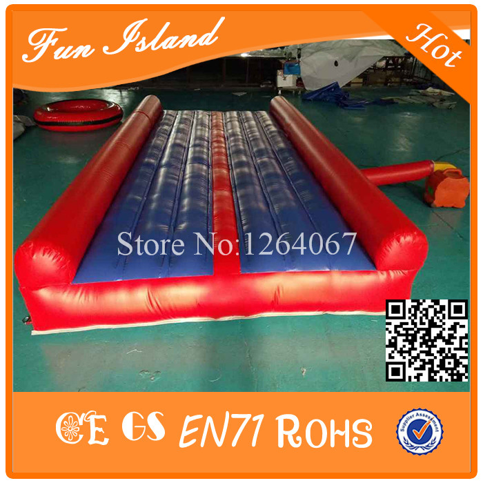Free Shipping 4m Inflatable Tumble Mat,Inflatable Gymnastics , Tumbling Air Track free shipping 6 2m inflatable tumble track trampoline air track gymnastics inflatable air mat come with a pump
