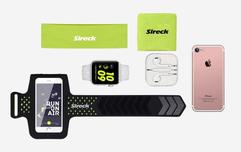 """Sireck Running Bags Touchscreen 5.0"""" 5.8"""" Armband Phone Waterproof Arms Bag Accessories Gym Sport Fitness Jogging Run Bag 45 cm 20"""
