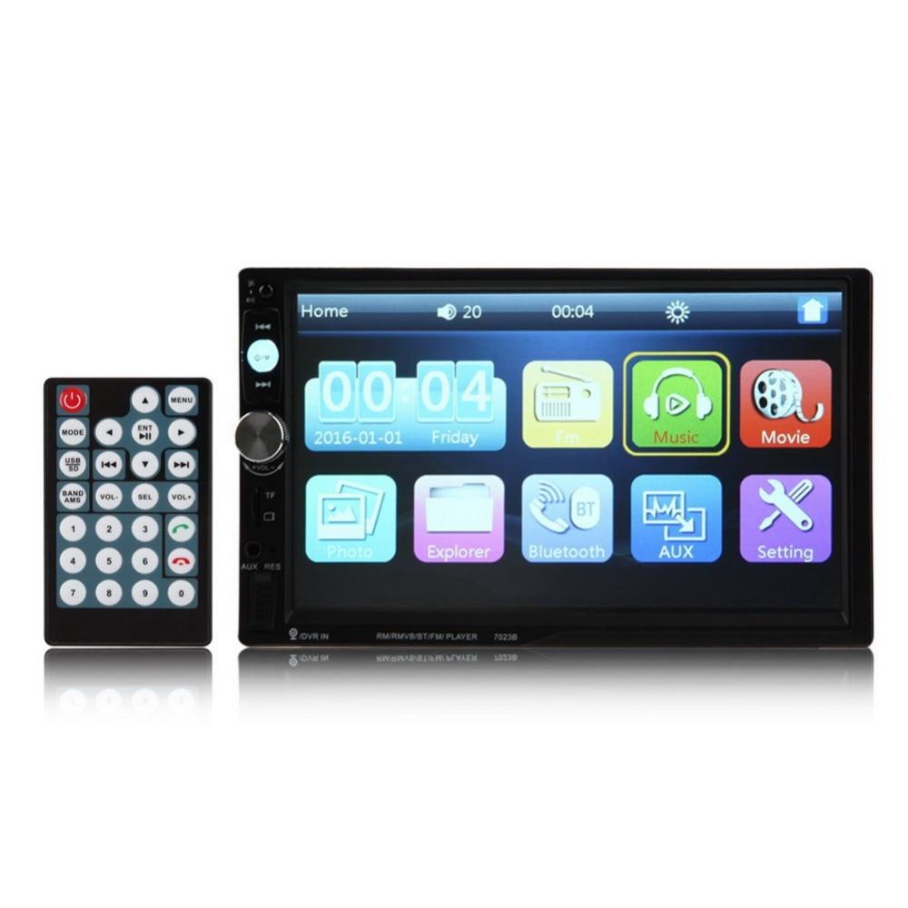 VODOOL 7 HD 2 Din Tactile Ecran LCD De Voiture Lecteur MP3 Bluetooth USB TF FM DVR Aux Entree Vehicule Radio MP5 Player Car Styling