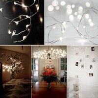 10PCS 12M LED Super Bright Copper Wire Lights 8 Modes Decorative Wedding Light