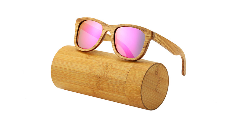 AN SWALLOW New 100% Real Zebra Wood Sunglasses Polarized Handmade Bamboo Mens Sunglass Sun glasses Men Gafas Oculos De Sol Mader 14