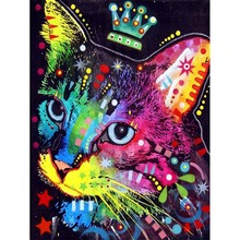 New  Diamond Embroidery Oil Painting Cat Diy Color 5D Square Full Stick Wall L548