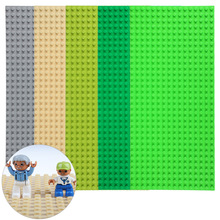 Big Baseplate Bricks Toy 512 Particles Baseplate Exlarge Brick 51 * 25.5cm 32*16 dot Solid Toys Compatible With Duploes