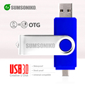 USB 3.0 OTG Unidad Flash USB de Alta Velocidad OTG teléfono rotatorio Pen Drive de Memoria USB Stick Regalo pendrive 64 GB 32 GB 16 GB 8 GB