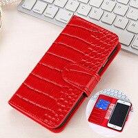 Luxury Crocodile Grain Leather Case for MI10 Case Flip Wallet Case For MI10