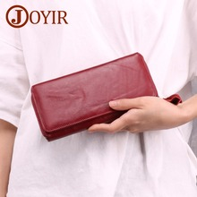 JOYIR Wallet Women Top Quality Leather Multifunction Female Purse Long Big Capacity Card Holders Money Bag
