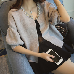 PYH40780 Autumn 2018 Spring Sweater Cardigan Female Twist Loose Sweater Thick Half Sleeve Fashion women cardigan