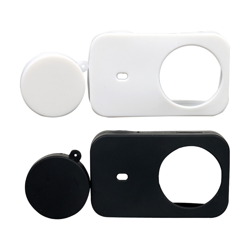 Silicon Soft Case With Protective Lens Cover Cap For Xiaomi Mijia Camera 4K