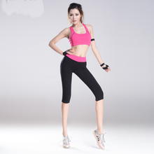 New bandage short vest and pants women 2 pieces sport suit outfits knee short pants tracksuits Women's Yoga sets