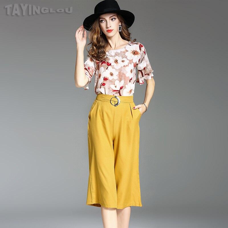 Women font b Blouses b font font b 2017 b font TaYingLou Summer New Suit Chiffon