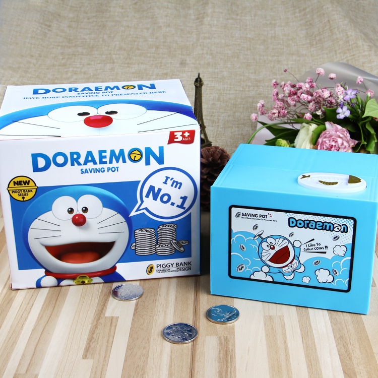 Image 5 - New 2019 Doraemon Brand New Steal Coin Piggy Bank Electronic Plastic Money Safety Box Coin Bank Money boxes-in Anti-theft Lock from Security & Protection
