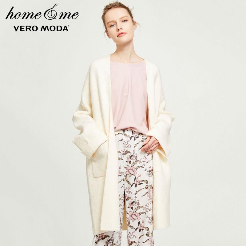 Vero moda primavera novo wearable solto malha cardigan homewear   318113507