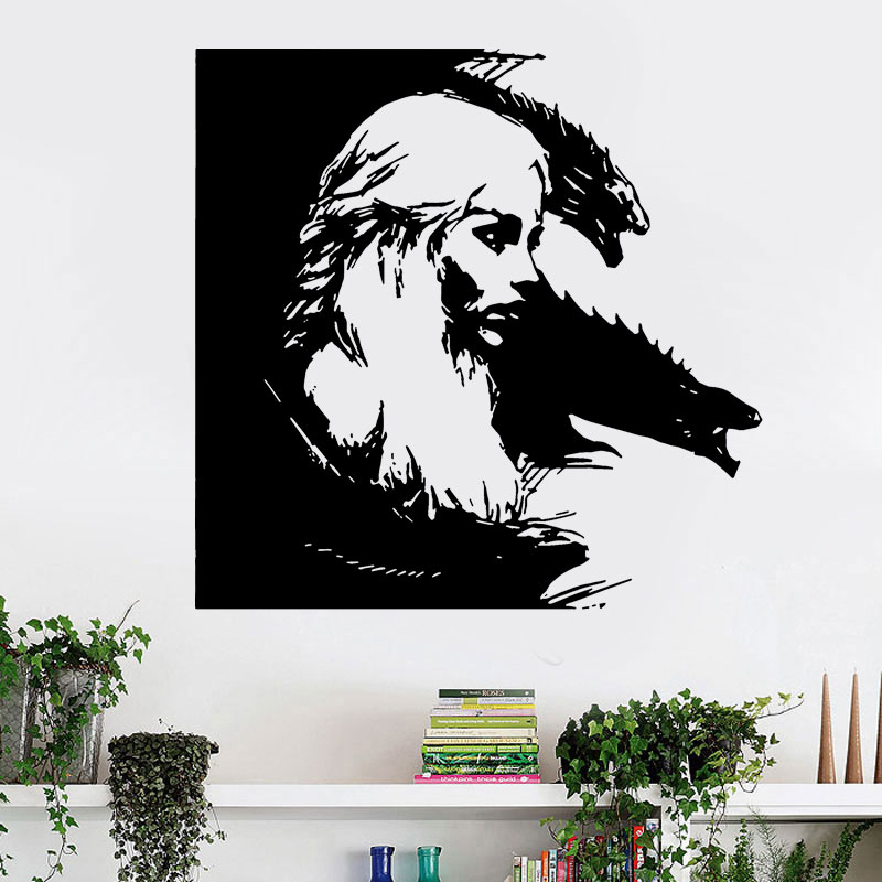 Vinyl Removable Home Decor Game Of Thrones TV Poster Daenerys Targaryen Carved Wall Sticker For Living