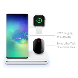 Image 5 - 3in1 15W Qi Wireless Fast Charger For Iphone X/Xiaomi/Huawei Phone Vertical Charger Dock Station For Apple Airpods Watch 4 3 2 1