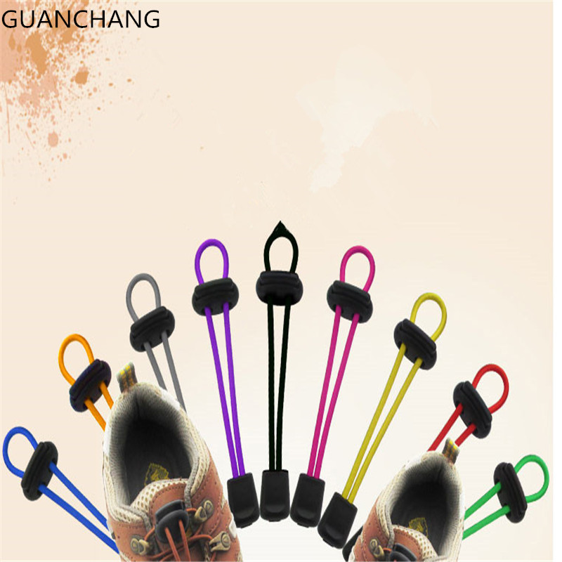 No Tie Locking Lazy Shoelaces Sneaker Elastic Children Safe Round Shoe Lace cordones Fitness Strap Sneater Sports New Fashion new design round shoelaces 90cm no loose creative flat lazy sports shoelaces v025