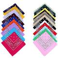 Women and Men Fashion Hot Selling Hip-Hop Bandanas Feminina Head Scarves For Male Female Unisex Multi Colour Head scarf