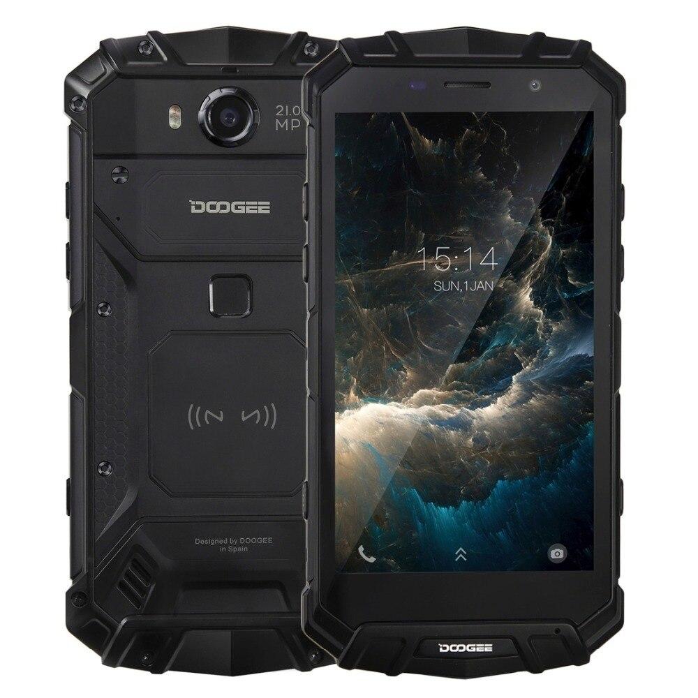 IP68 DOOGEE S60 Беспроводной Charge 5580 мАч 12V2A Quick Charge 5,2 ''FHD Helio P25 Восьмиядерный 6 ГБ 64 ГБ смартфон 21.0MP Камера NFC