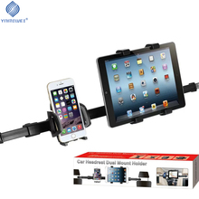 Universal Tablet Car Holder Phone Mount Car Back Seat Headrest Dual Mount Stand Car Accesso