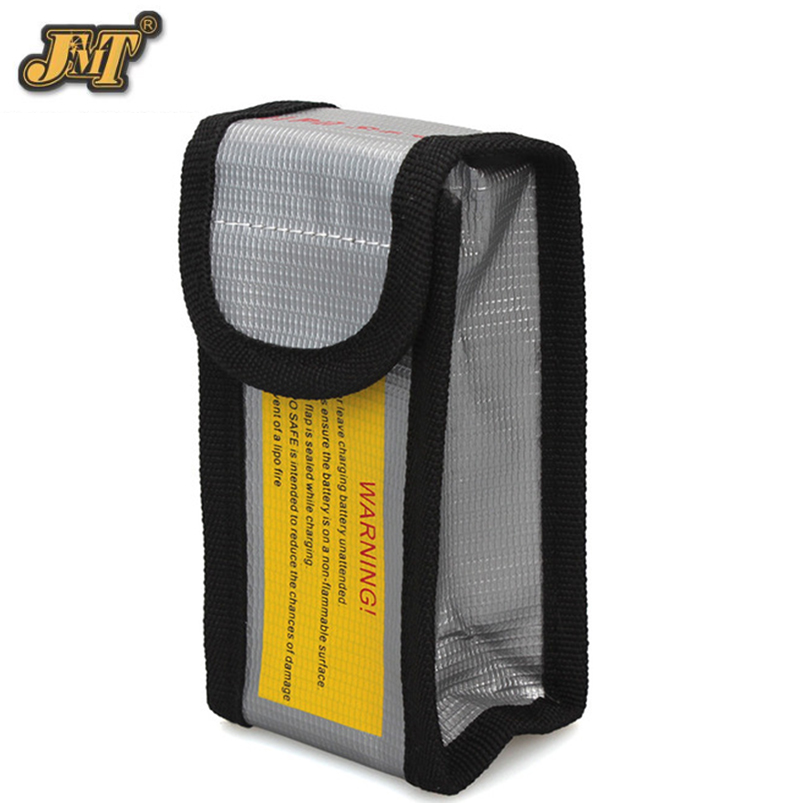 d2169285421 JMT Alta Qualidade Safe Guard Carga Sack 18.5 7.5 6 cm À Prova de Fogo À  Prova de Explosão RC LiPo Segurança Da Bateria Bag