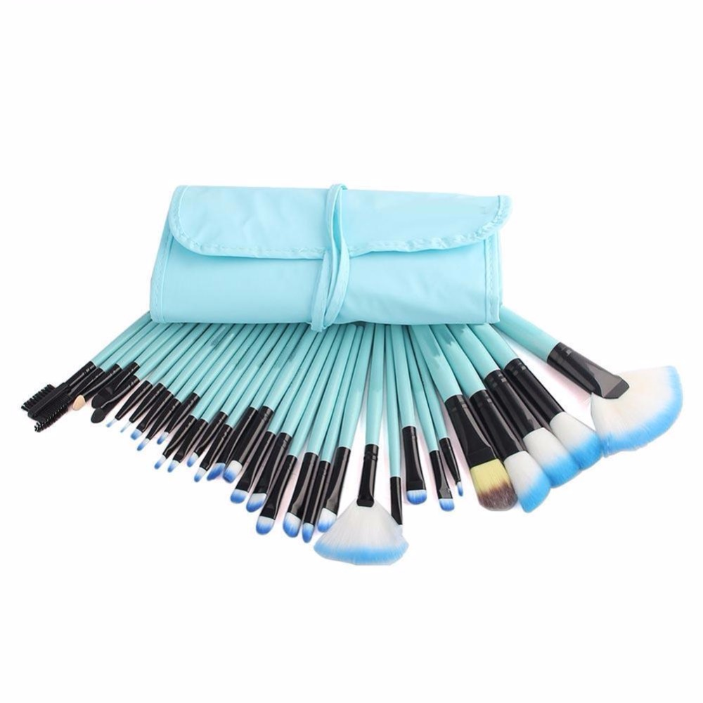 32Pcs Brushes Set Professional Makeup Foundation Brush For Face Eye Shadows Lip Liner Powder Beauty Tools With Brush Bag professional black makeup brushes set 32pcs set foundation eye face shadows lipsticks powder make up brush kit tools bag