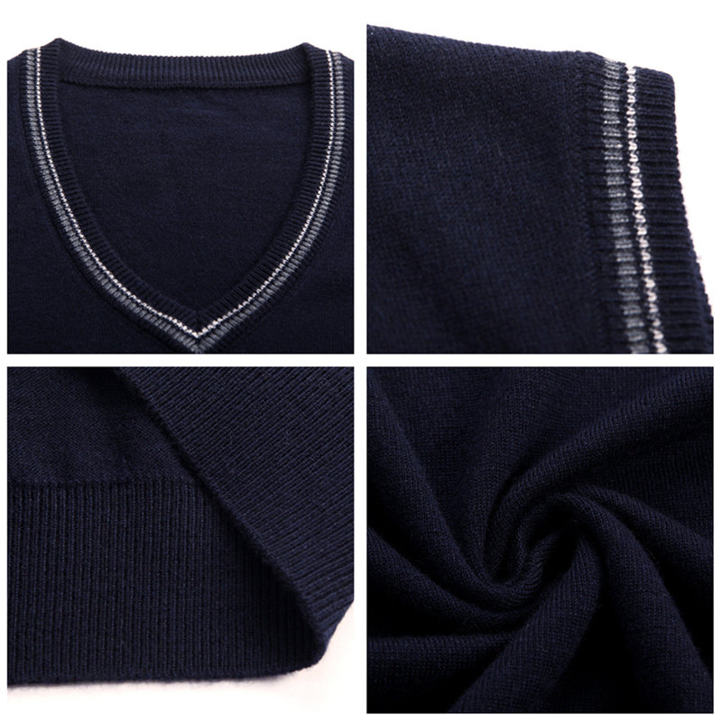 COODRONY Sweater Men 2019 Autumn Winter Soft Warm Cashmere Woolen Mens Sweaters Fashion V Neck Sleeveless Vest Pull Homme 91021 in Vests from Men 39 s Clothing