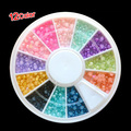 Best Sale Hot Sale! Colorful Pearl Nail Art Stone Different Size Wheel Rhinestones Beads