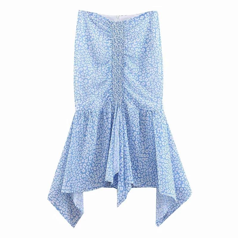 Women Chiffon Skirts 2019 Spring-Summer Ladies Elegant Mermaid Skirt Asymmetry Girls Boho Faldas Mujer Moda Jupe Femme Clothes