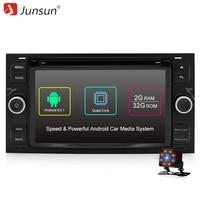 Junsun 7 Autoradio 2 Din Android Car DVD Player Joying For Ford Focus 2005 2006 2007