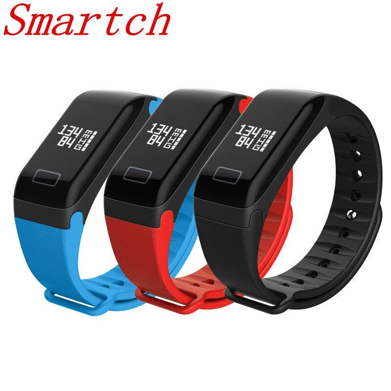 Smartch Smart Wristband Pedometer F1 Smart Bracelet Heart Rate Monitor Watches Blood Pressure Fitness Sport Smartband