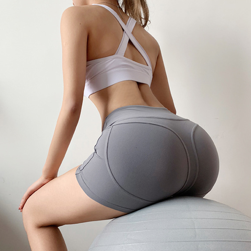 Yoga Shorts Woman Fitness Sports Leggings Jogger Shorts Women Solid Sport Workout High Waist Shorts Gym Sport Short Leggings