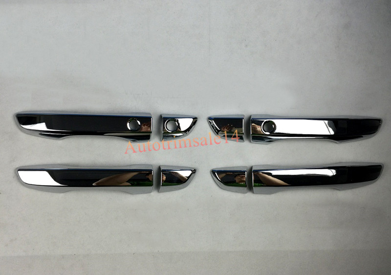 left hand drive chrome smart holes door handle cover trim for honda civic 10th gen 2016 2017 in. Black Bedroom Furniture Sets. Home Design Ideas