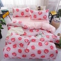 新しいファッション漫画寝具セットスイカバナナフルーツベッドシート布団カバー枕ソフト快適なキングクイーンフルサイズ