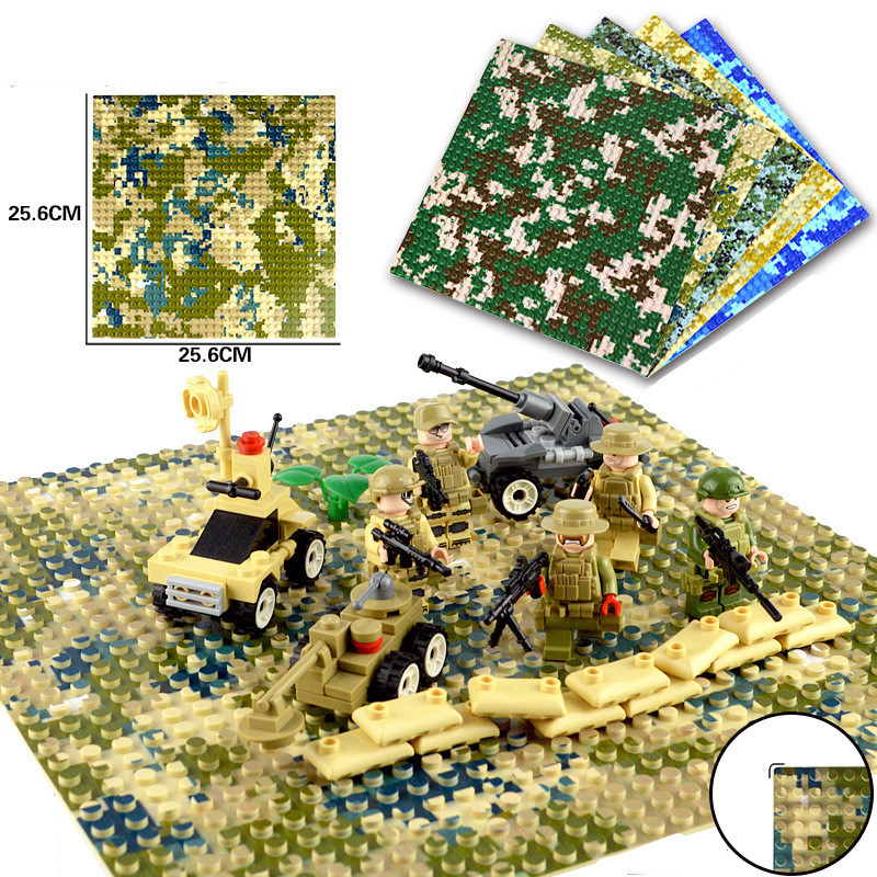 <font><b>32x32</b></font> Small Dots Camouflage Sea Island <font><b>Baseplate</b></font> Building Blocks Seabeach Base Plate 100% Compatible with Legoings Blocks Toy image