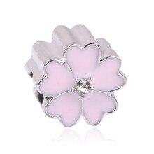 Silver Color Bead Charm Silver Fit Pandora Bracelets & Bangles Necklace