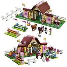 10163 Série Bela Building Blocks Amigos Heartlake Estábulos da Mia Fazenda Cavalo Figuras Meninas Brinquedos Compatíveis com Legoe 3189