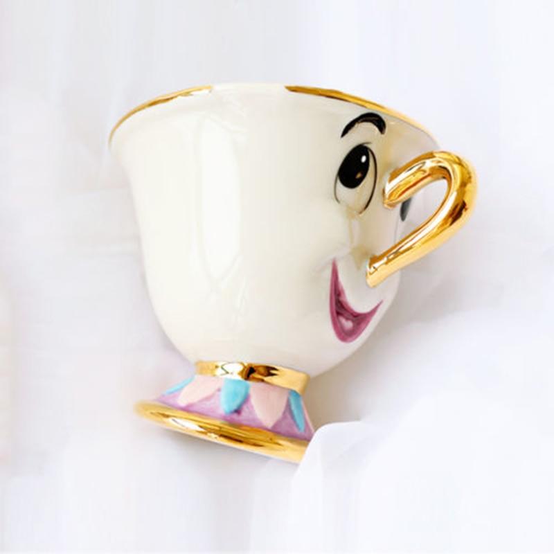 Ev ve Bahçe'ten Kahve Takımları'de Güzellik ve Canavar Mrs Potts' oğlu: çip Sadece Kupa çay seti Kahve Fincan Güzel doğum günü hediyesi Sınırlı Sayıda Hızlı Sonrası Tek Parça title=
