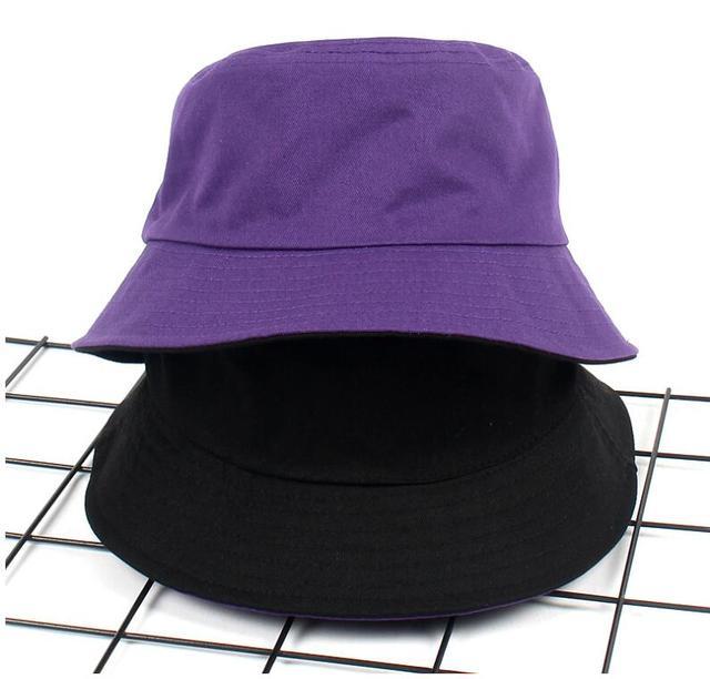 57040e6e2236b 2018 Two Side Reversible Purple Bucket Hat Unisex Bob flat Caps Hip Hop  GorrosPanama for man