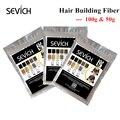 Кератиновая пудра для наращивания волос Sevich, 10 цветов, 100 г, моментальный рост волос, волоконные стержни, 50 г, продукт для ухода за волосами