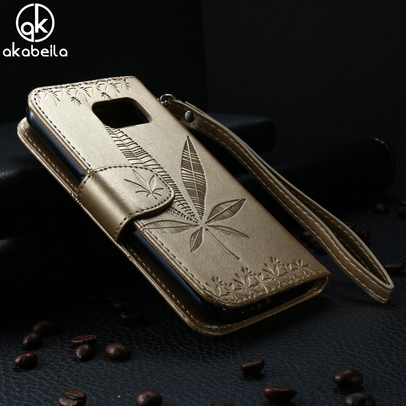 AKABEILA Cases For Samsung Galaxy S6 Case G9209 G920A SVI G9200 G9208 G9208/SS G920F PU Leather Flip Wallet Phone Case Covers