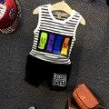 2016 New Hot Sale Summer Kids Boys T Shirt Shorts Set Children Sleeveless Shirt Boys Clothing Set Kids Boy Sport Suit Outfit