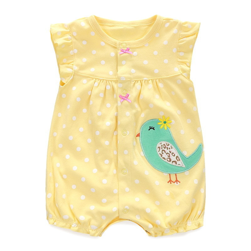 Newborn Girls Clothes Polka Dots Print Baby Girls Rompers Roupas Bebe Toddler Kids Jumpsuits Summer Sleeveless Baby Girls Romper puseky 2017 infant romper baby boys girls jumpsuit newborn bebe clothing hooded toddler baby clothes cute panda romper costumes