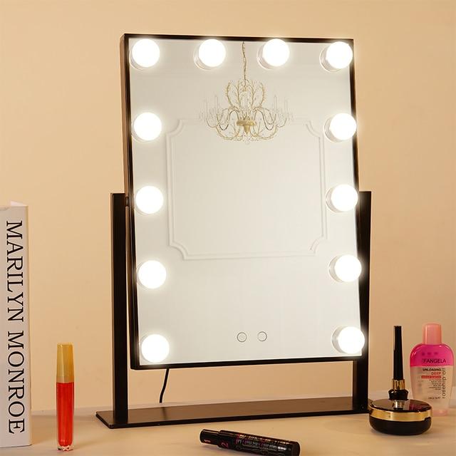 plug in vanity mirror lights. BEAUTMEI Professional Dressing Room Tabletop Lighted Led Vanity Makeup  Mirror Plug in Illuminated with 12PCS Bulbs