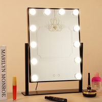 BEAUTMEI Professional Dressing Room Tabletop Lighted Led Vanity Makeup Mirror Plug In Illuminated With 12PCS Bulbs