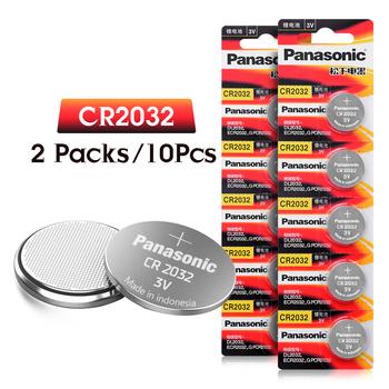 PANASONIC 10 sztuk cr2032 DL2032 ECR2032 5004LC KCR2032 BR2032 3v komórka przycisku monety baterie litowe do zegarka samochodzik tanie i dobre opinie cr2032 battery Button cell battery EE7234 cr2032 220mAh 20mm 0 79 Li-ion 3 2mm 0 13