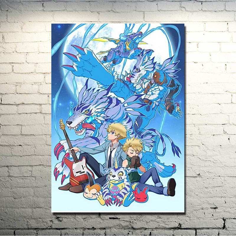 Digimon Adventure Tri Anime Silk Poster Wall Art Canvas Print 13x18 inches