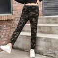 2017 Mulheres Casuais Calças de Verão Plus Size Calças de Camuflagem Militar Amry Camuflagem Para As Mulheres Camo Calças Harém Fino
