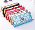 Hot Sale Fashion Metal crown Women PU Leather Long Purse Wallet Clutch Zip Bag Card Holder