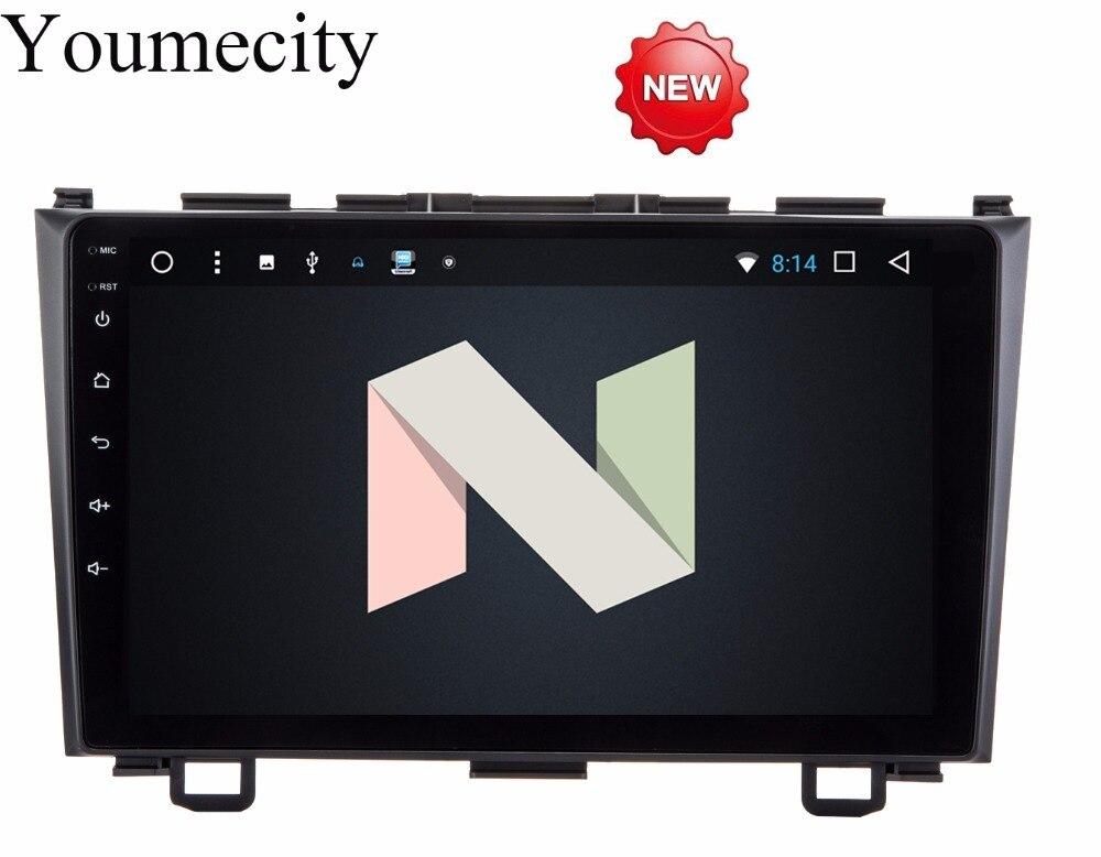 Youmecity NOUVEAU! Android 7.1 2 DIN 9 Octa Core Voiture dvd Vidéo GPS Navi Pour Honda CRV 2006-2011 Capacitif écran 1024*600 + wifi + BT